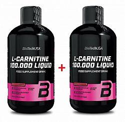 1+1 Zadarmo: L-Carnitine 100 000 Liquid od Biotech USA 500 ml. + 500 ml. Jablko