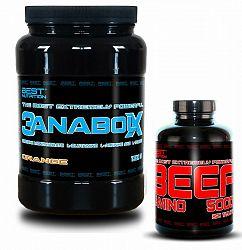 3AnabolX + BEEF Amino Zadarmo od Best Nutrition 1000 g + 250 tbl. Pomaranč