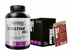 Akcia: Creatine HCL + Nitrox Pump - Prom-IN 240 kaps. + 10x15 g Melon