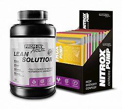 Akcia: Lean Solution + Nitrox Pump - Prom-IN 180 kaps. + 10x15 g Cola+Lemon