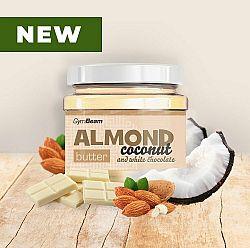 Almond Butter ochutené - GymBeam 340 g Coconut+White Chocolate