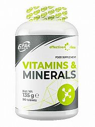 Vitamins and Minerals - 6PAK Nutrition 90 tbl.